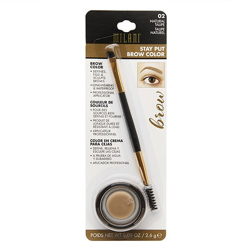 Milani - Milani Stay Put Brow Color, 02 Natural Taupe (Pack of 2)