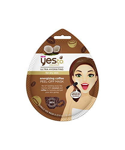 Yes To - Yes To Coconut Ultra-Hydrating Energizing Coffee Peel-Off Mask (Single Use) – Purifying & Deep Cleaning Peel-Away Mask – Coconut & Coffee Extract | Single Use 0.33oz