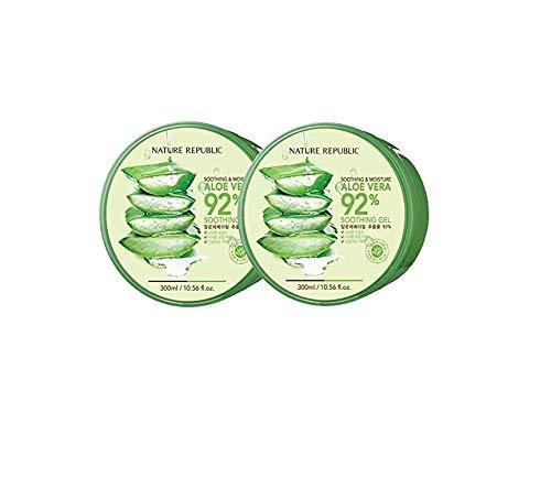 Nature Republic - Nature Republic New Soothing & Moisture Aloe Vera 92% Gel, 10.56 Fl Oz (2 Pack)