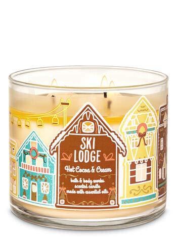 White Barn - White Barn Bath & Body Works 3 Wick Candle Hot Coco & Cream Ski Lodge