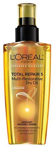 L'Oreal Paris - Loreal Total Repair 5 Multi- Restorative Dry Oil 3.4 Ounce (100ml) (6 Pack)