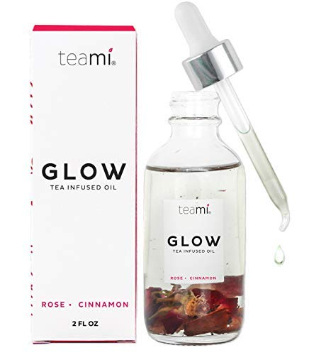 Teami - Teami Glow Jojoba Face Oil - Our 100% All-Natural Anti Aging, Antioxidant Formula Fights Wrinkles and Protects Skin While it Softens and Hydrates with Coconut Oil, Camellia Seed, and Vitamin E (2oz)