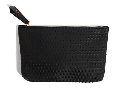 amazon.com - IPSY September 2017 Black Faux Leather Glam Bag - Makeup Bag Only