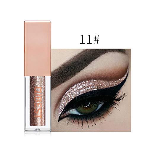 Lowpricenice - Lowpricenice DaySeventh Metallic Shiny Smoky Eye Eyeshadow Waterproof Glitter Liquid Eyeliner 15 Color K