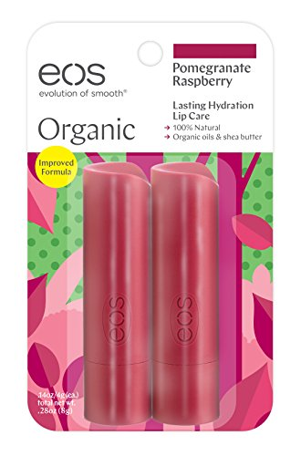 Eos - eos Organic Stick Lip Balm - Pomegranate Raspberry | Certified Organic & 100% Natural | 0.14 oz.