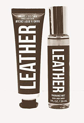 amazon.com - Bath and Body Works Mini LEATHER Fragrance Mist and Hand & Body Cream Travel Set
