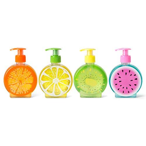 Tri-coastal Design - Simple Pleasures Set of 4 Hand Soaps - Summer Scents Include - Sweet Mandarin Orange, Lemon Verbena, Paradise Mint, Fresh Watermelon
