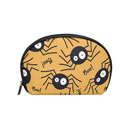 YETSH - Cosmetic Bag Big Eyes Spider Cartoon And Boo Customized Shell Makeup Bags Organizer Portable Pouch for Women/Girls