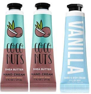 amazon.com - Bath and Body Works 2 Pack Vanilla Coconut Hand Cream and 1 Vanilla Hand Cream 1 Oz.