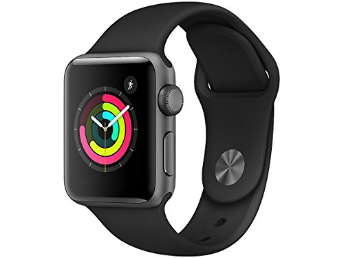 Apple - Apple MR352LL/A Watch Series 3 - Gps - Space Gray Aluminum Case with Gray Sport Band - 38mm