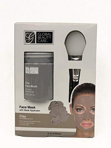 Global Beauty Care - Deep Cleansing Clay Face Mask with Applicator