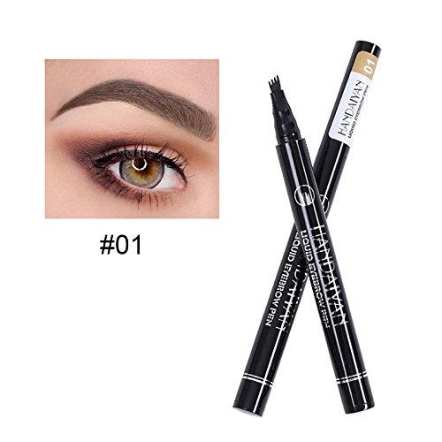 WUDEF - Eyebrows 4 Fork Micro-Carving Liquid Pencil Black Brown Waterproof Tint Eye Brow Tattoo Pen Eyebrow Enhancer