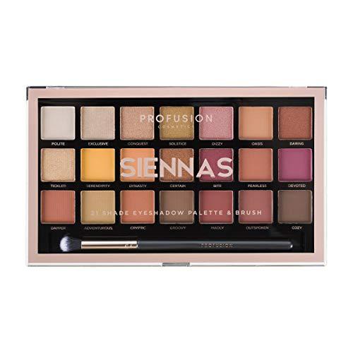 Profusion Cosmetics - Eyeshadow Palette Collection & Brush, Siennas