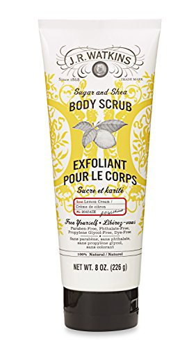 J.R. Watkins - J.R. Watkins Sugar & Shea Body Scrub, Lemon Cream, 8 ounce