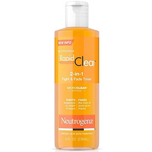 Neutrogena - Neutrogena Rapid Clear 2-in-1 Fight & Fade Toner 8 oz (Pack of 2)