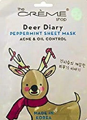 Creme - The Creme Shop Peppermint Sheet Mask (Deer Diary) Acne & Oil Control