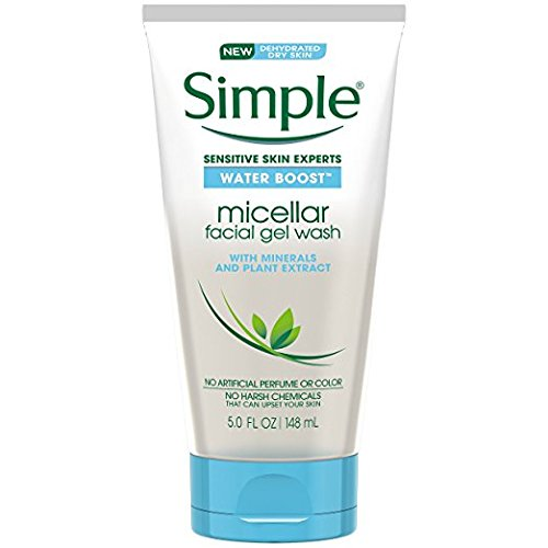 Simple Water Boost Micellar - Simple Water Boost Micellar Facial Gel Wash, Sensitive Skin, 5 fl oz (Pack of 2)
