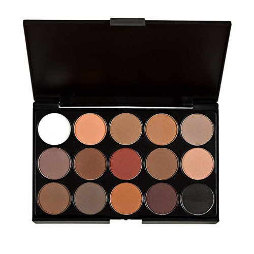 BYEEE - Hot Sale! BYEEE 15 Colors Neutral Warm Textured Eyeshadow Palette Makeup Contour Eye Shadow Palette/ Makeup Eyeshadow Palette (Multi-colored)