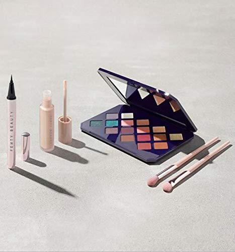 Fenty - Fenty Beauty by Rihanna Moroccan Spice Collection Set! 5 Pieces Eye Essentials Collection! Eye Primer, Eyeshadow Palette, Liquid Eyeliner, Eyeshadow Brush 200 and Blending Brush 210!