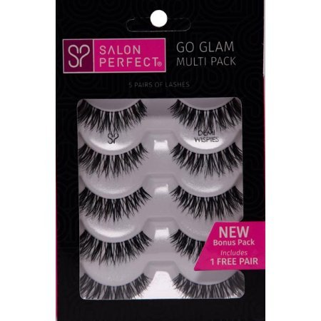 Salon Perfect - Salon Perfect Perfectly Glamorous Multi Pack Eyelashes, Demi Wispies Black, 5 Pairs
