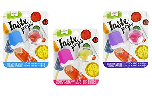 Taste Beauty - Set of 3 Novelty Flavored Lip Balms - Popsicle Flavored - Lollipop Flavored - Perfect for Parties, Gifts, Personal Use, and More!