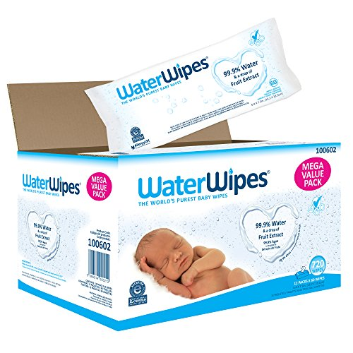 WaterWipes - WaterWipes Sensitive Baby Wipes, 720 Count (12 Packs of 60 Count)