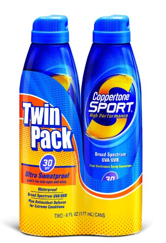 Coppertone - Coppertone Sport Clear Continuous Spray SPF 30, 6 oz, Twin Pack