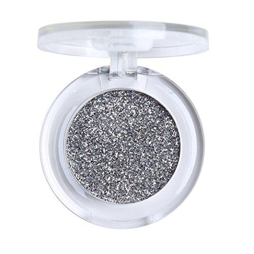 Honhui - Honhui PHOERA Glitter Shimmering Colors Eyeshadow Pallets Metallic Eye Cosmetic (Silver)