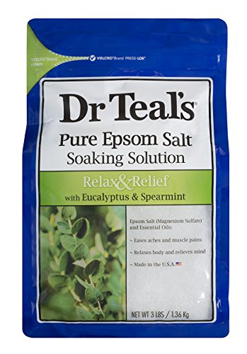Dr Teal'S - Dr Teal's Epsom Salt Soaking Solution, Relax & Relief, Eucalyptus and Spearmint
