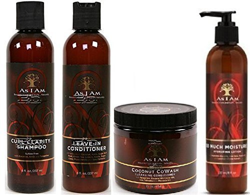 I Am - As I Am Naturally 4pcs BIG Combo Deal (Curl Shampoo, Leave-In Conditioner, So Much Moisture, and Cocnut CoWash) Plus 1 free pencil