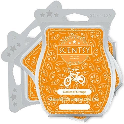 Scentsy Fragrance - Scentsy, Oodles of Orange, Wickless Candle Tart Warmer Wax 3.2 Oz Bar, 3-pack (3)