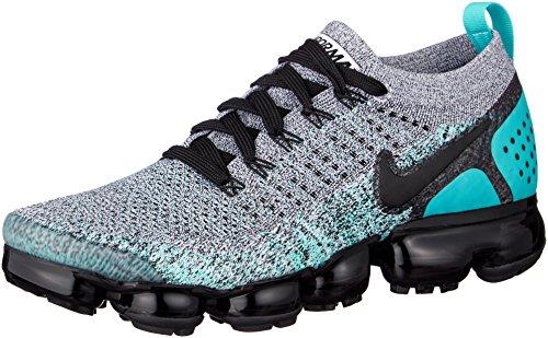 Nike - NIKE Men's Air Vapormax Flyknit 2, White/Black-Dusty Cactus, 9 M US
