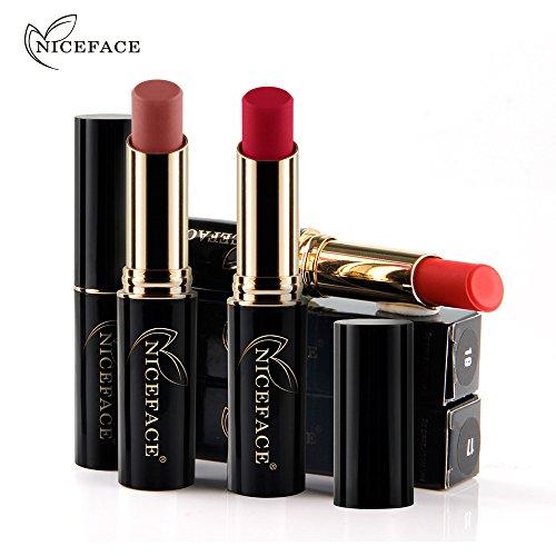 LtrottedJ - LtrottedJ New Lip Lingerie Matte Liquid Lipstick, Waterproof Lip Gloss Makeup 12 Shades H (I)