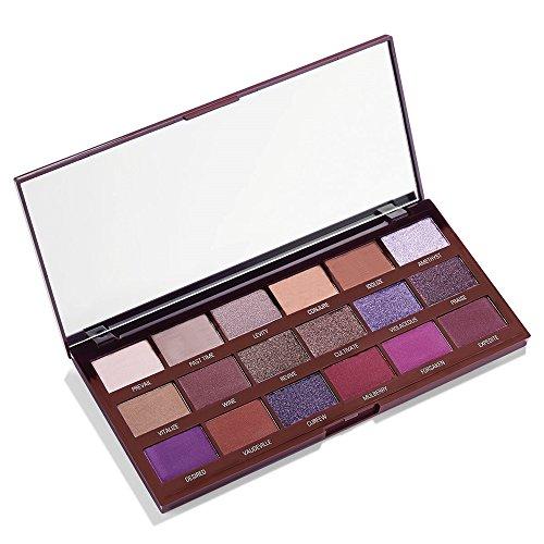Makeup Revolution - Makeup Revolution I Heart Revolution Eyeshadow Palette, Violet Chocolate