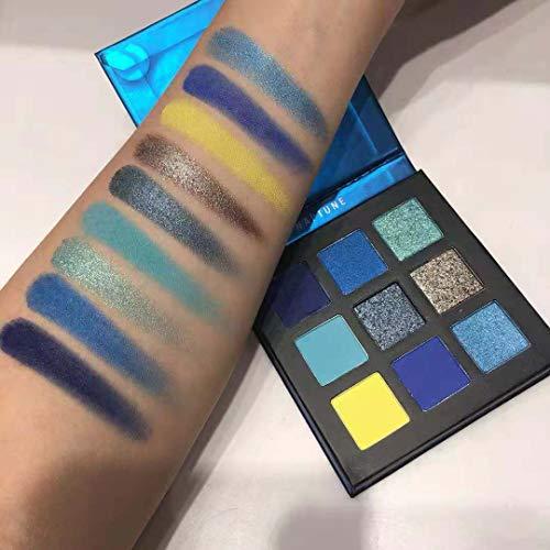 H.FHJBK - Beauty Glazed Makeup 9 Colors Eyeshadow Pallete Waterproof Diamond Glitter Shimmer Eye Powder Professional Shadow Kit NAPTUNE