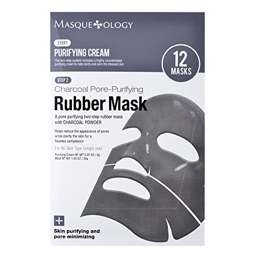 Masqueology - Masqueology Charcoal Pore-Purifying Rubber Mask, 12 ct.