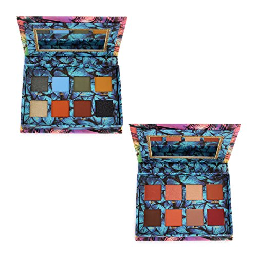 Okalan - Okalan Matte 8-Color Eyeshadow Pallet - Bundle of 2 (Earthly & Flame)