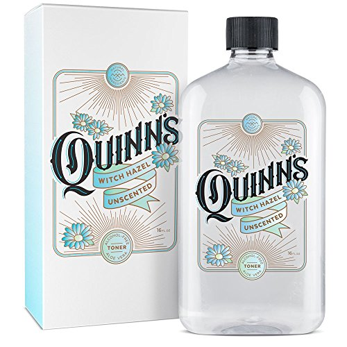 Quinn's - Quinn's Alcohol-Free Witch Hazel 16oz – Unscented Aloe Vera Natural Toner for Face & Skin