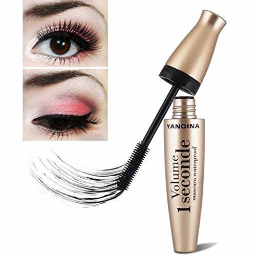LtrottedJ - LtrottedJ 3D Fiber Mascara,Long Black Lash Eyelash Extension Waterproof Eye Makeup Tool