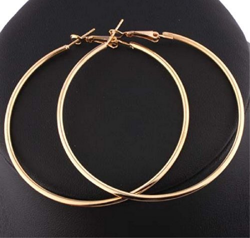STAYJOY - Fashion Large (3.54-inch) Hoop Earring Pair (GOLD)
