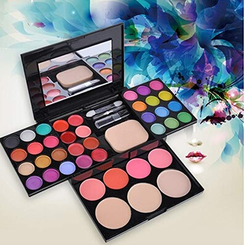 GDRISA - New Makeup Palette 39 Colors Eyeshadow With Eye Primer Luminous Eye Shadow Palette Band Makeup Cosmetics Lipstick MULTICOLOR