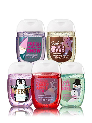 Bath & Body Works - Bath & Body Works 5 Pack Pocketbac Holiday Traditions Bundle Hand Sanitizers