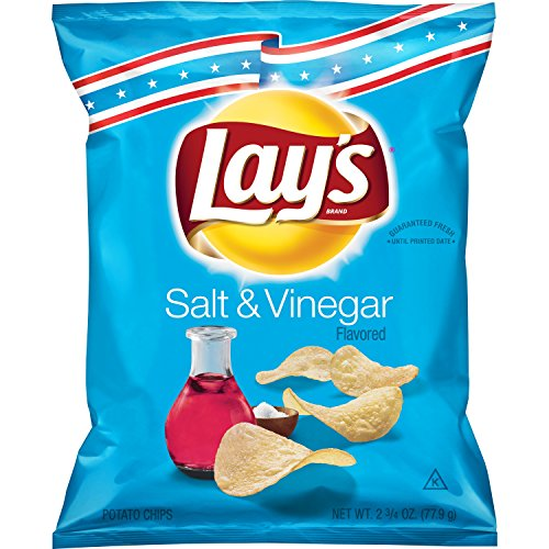 Lay's - Lay's Salt & Vinegar Flavored Potato Chips, 2.75 Ounce