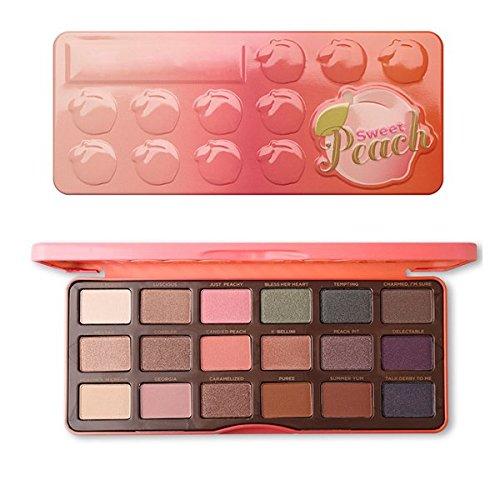 MEZHLZ - 18 Colors Chocolate Sweet Peach Eyeshadow Palette Bon Bons Peach Paleta Pigmented Peachy Eyeshadow Pallete Maquillage Makeup Sweet Peach