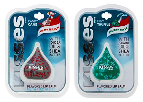 Hershey's - Hershey's Kisses Flavored Holiday Lip Balm 2-Pack - Candy Cane and Mint Truffle - Great Gift Set for Men and Women