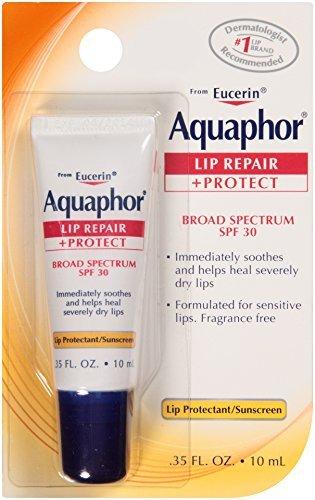 Aquaphor - Aquaphor Lip Repair + Protect Lip Balm Sunscreen UVA/UVB SPF30, 0.35 oz (Pack of 3)
