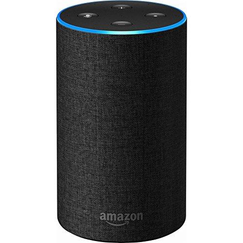 Amazon - Echo (2nd Generation) - Smart speaker with Alexa - Charcoal Fabric