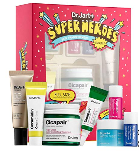 Dr.Jart+ - DR. JART+ Superheroes Skin Transformers: Tiger Grass Color Correcting, Re.Pair Serum, Water Fuse Hydro Sleep Mask, Ceramidin, Beauty Balm, Peptidin Radiance Serum Firming Serum