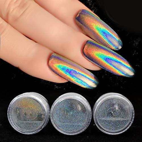 Kisame - Glitter Nail - 0.2g Holographic Glitter Laser Nail Glitter Powder Holo Rainbow Unicorn Powder Powder Dust Nail Sf2014