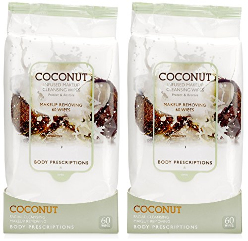 Body Prescriptions - Body Prescriptions - 2 Pack (60 Count Each) Coconut Facial Cleansing Wipes